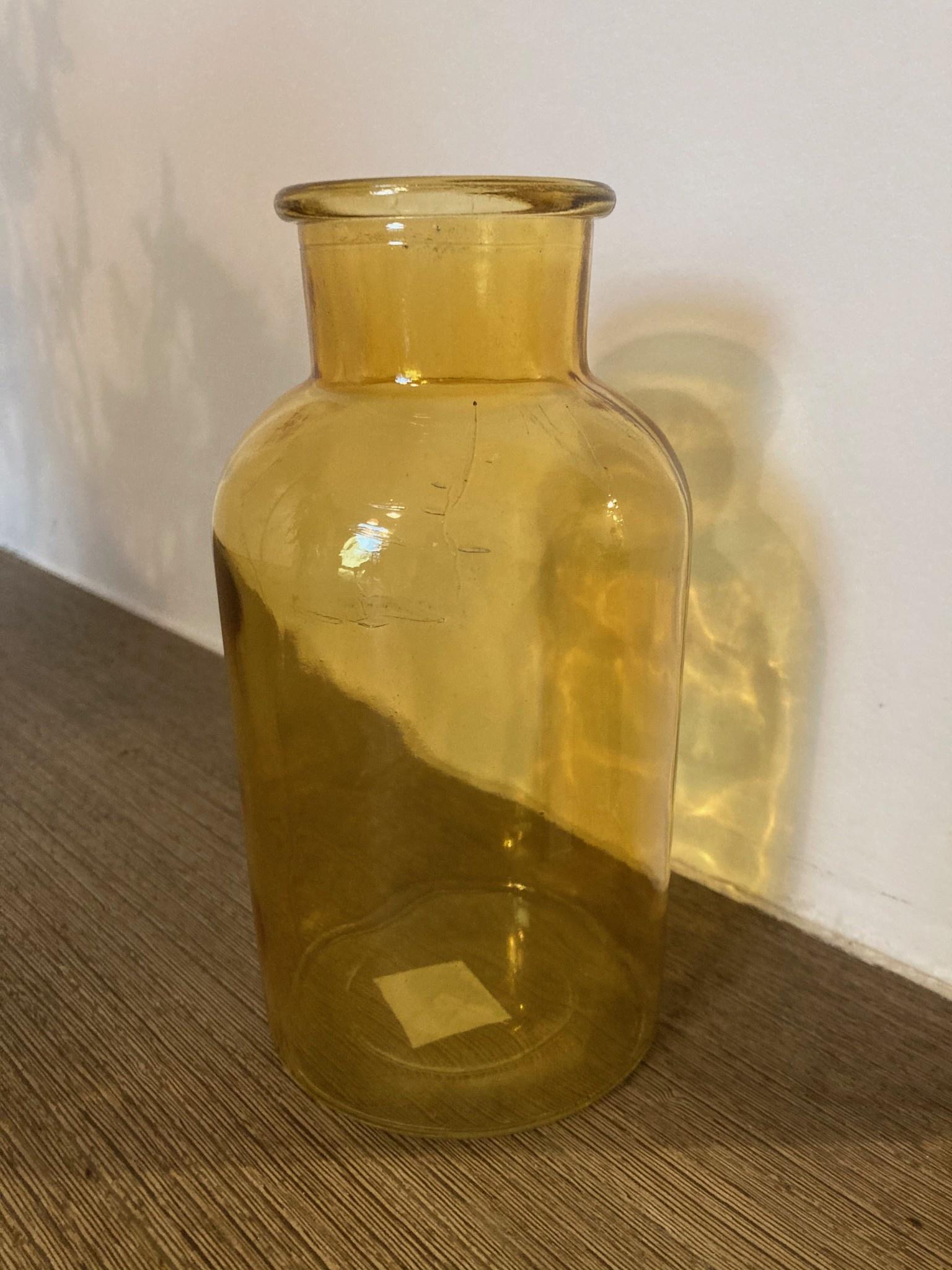 Dry glass oker melkbus 10x20cm