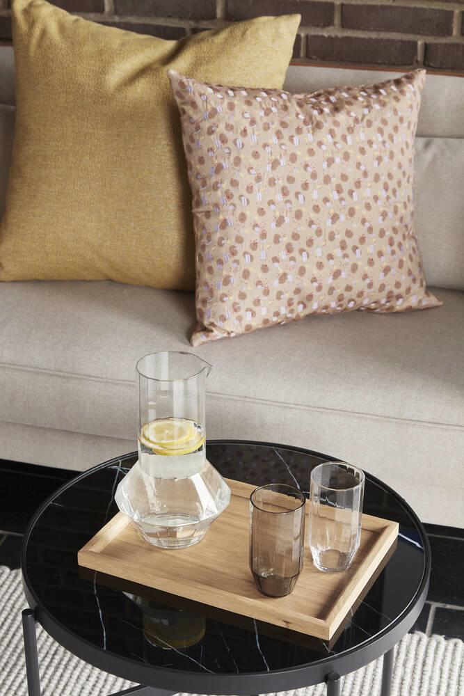 Hübsch water kruik, klaar glas ø16xh25cm