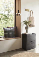 Hübsch Pot, keramiek, beige/zwart, s/2 _ ø12xh23, ø15xh24cm