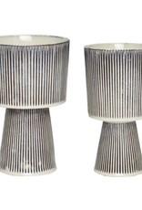 Hübsch Pot, keramiek, beige/zwart,  ø12xh23 cm