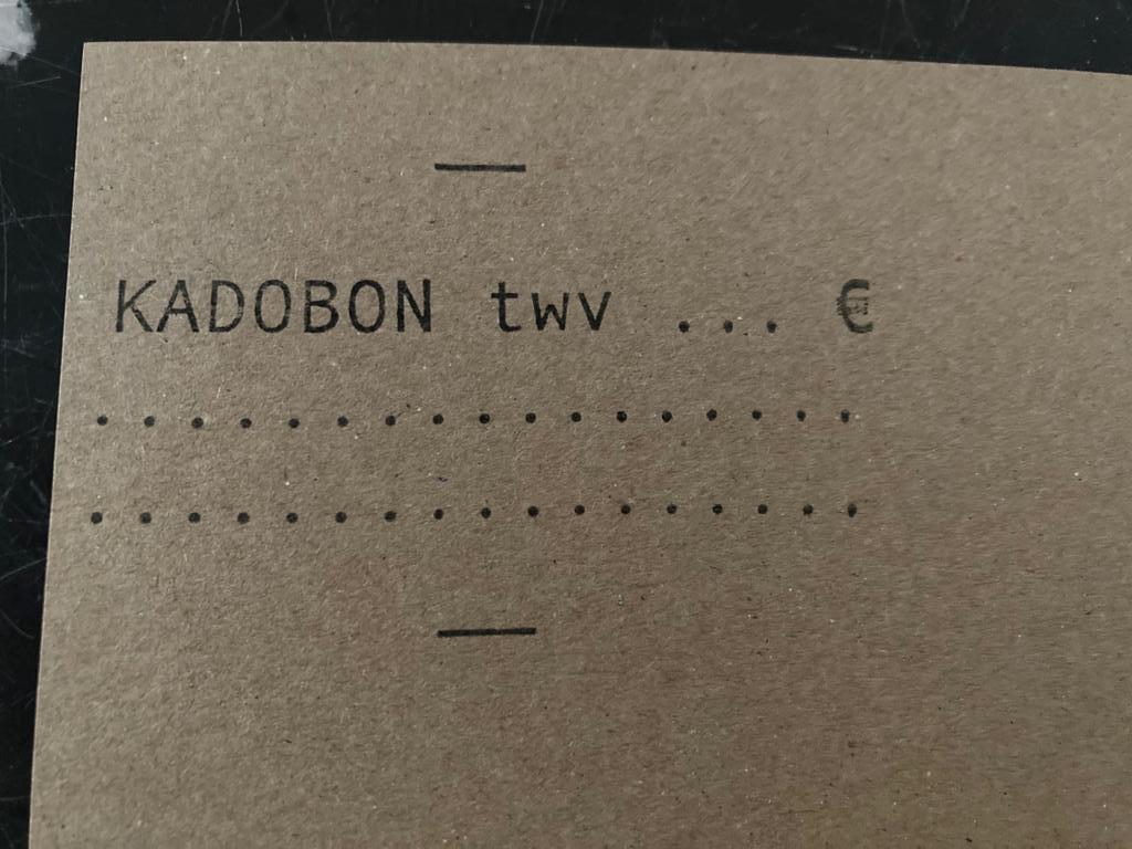 Cadeaubon Atelier Bloem 50€