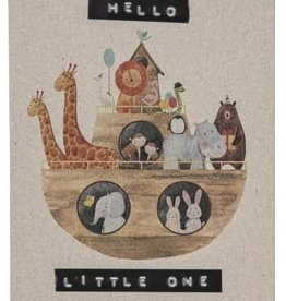 "Wellmark Gerecycleerde postkaart ""hello little one"""