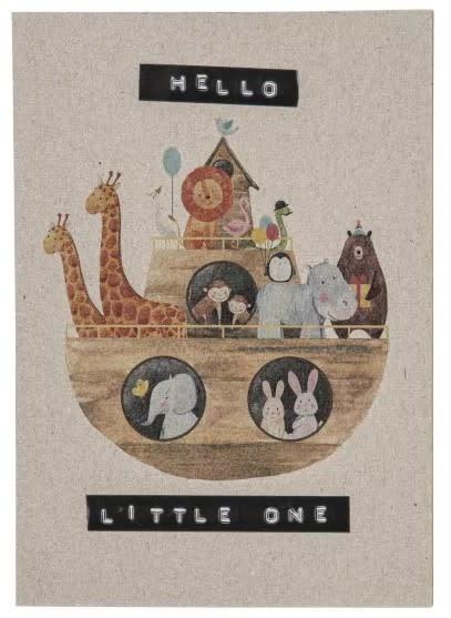 "Wellmark Gerecycleerde postkaart ""hello little one"""