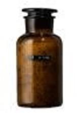 Wellmark Badzout apothekers pot - bruin glas - 500 ml