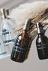 Wellmark Zeeppomp bruin glas _ messing - 500 ml handzeep