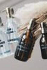 Wellmark Zeeppomp bruin glas - messing - 250 ml handzeep