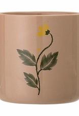 Nadrey Flowerpot_bruin_steen_Ø9,5xH9,5 cm