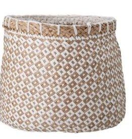 Lindi basket, wit, seagrass Ø35xH29