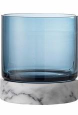 Bloomingville Tate Votive, blauw, glas,  Ø11xH12 cm