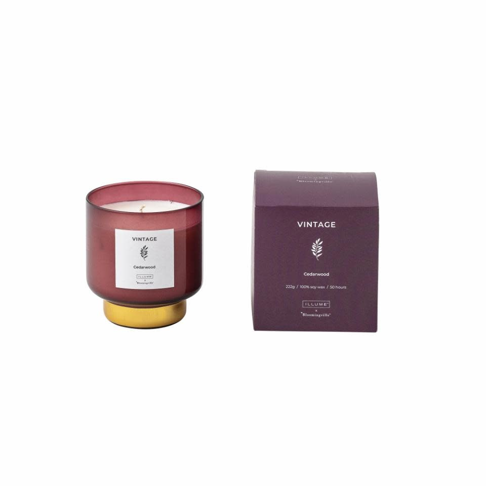 Bloomingville VINTAGE _ cedarwood scented candle 222G.
