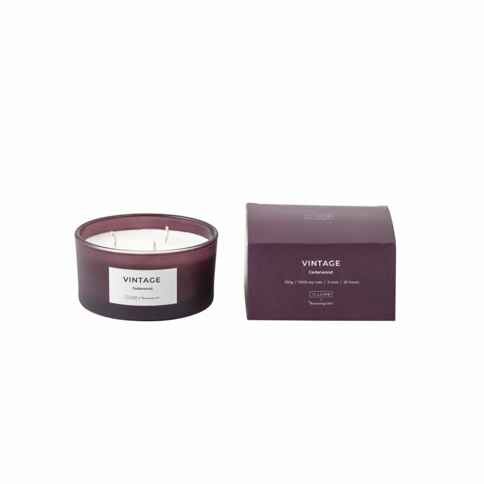 Bloomingville VINTAGE _ cedarwood scented candle 250G.