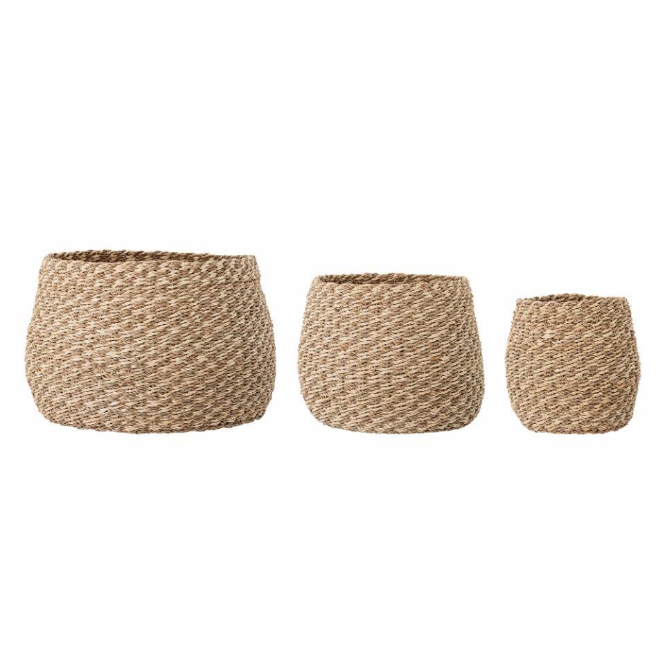 Bloomingville Malli basket, Nature Seagrass Ø44*H30 cm