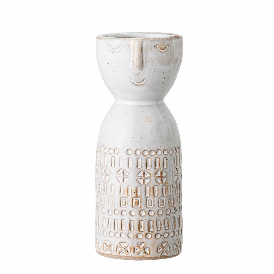Bloomingville Embla vase _ wit _ Stoneware