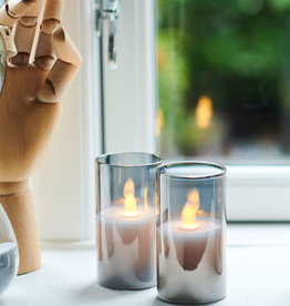 Sirius Ivy mini glass candle 2 stuks, Ø5 x H9 cm