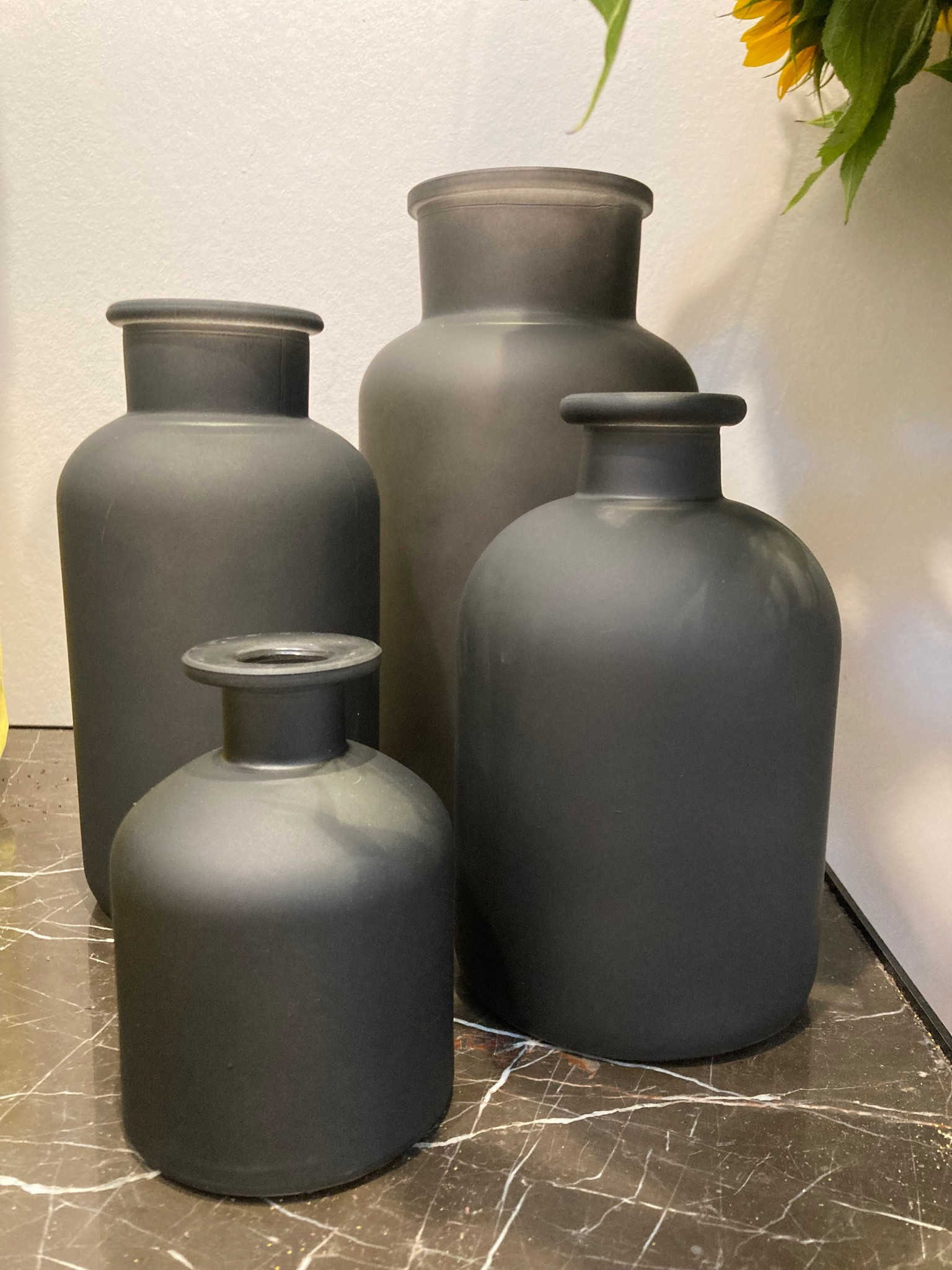 Dry glass black mat fles 8x11cm