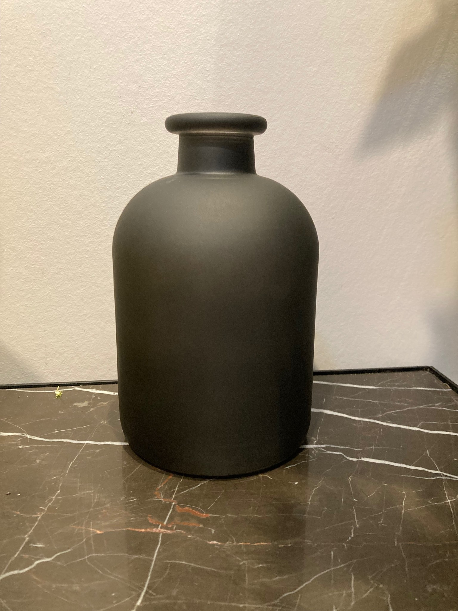 Dry glass black mat fles 11x17cm