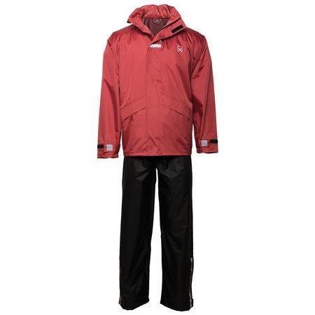Regenpak Rood/Zwart Willex Regenpak Rood/Zwart
