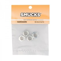 Smucks Axle Nuts Silver 4 Pack