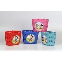 Fietsmandje Mickey Mouse - assortiment 4 kleuren