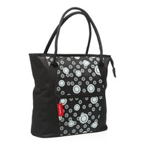 TAS NEW LOOXS CAMEO SHOPPER BLACK CIRCLE