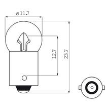 Lamp 6V 0.05 Bajonet Fiets achterlicht (2 stuks)