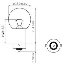 Lamp 6V-7.5W BA9S