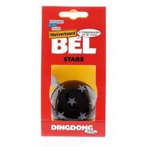 Fietsbel Ding Dong Stars 60 mm - zwart/witte