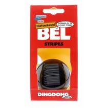 Fietsbel Ding Dong Stripes 60 mm - zwart/witte