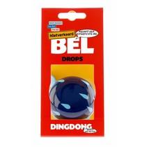 Fietsbel Ding Dong Drops 60 mm - blauw/witte