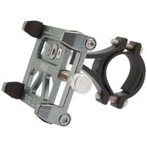 Mirage telefoonhouder alu m/bracket, gun metal