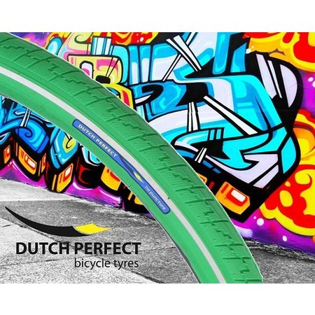 "DUTCH PERFECT Buitenband 28x1,40"" / 37-622 No Puncture - groen"