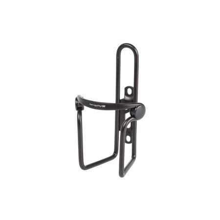 M-WAVE Bidonhouder aluminium met PVC klemmen - zwart