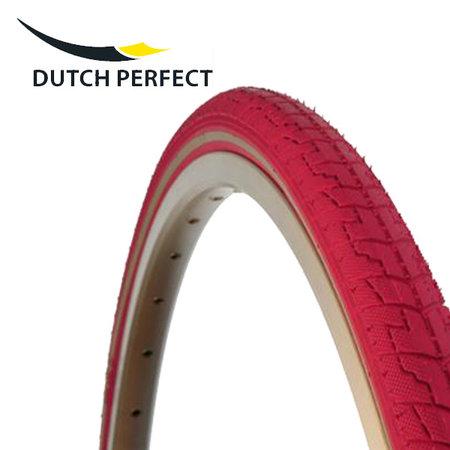 """DUTCH PERFECT Buitenband 28x1,40"""" / 37-622 No Puncture - roze"""