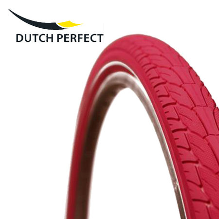 "DUTCH PERFECT Buitenband 28 x 2.00"" / 50-622 No Puncture - Roze"