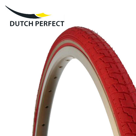 """DUTCH PERFECT Buitenband 28x1,40"""" / 37-622 No Puncture - rood"""