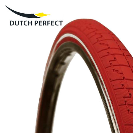"DUTCH PERFECT Buitenband 28 x 1 ½"" / 40-635 No Puncture - Rood +"