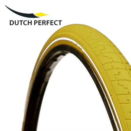 "DUTCH PERFECT Buitenband 28 x 1 ½"" / 40-635 No Puncture - Geel +"