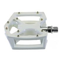 Pedaalset BMX/Freestyle aluminium wit 9/16 inch