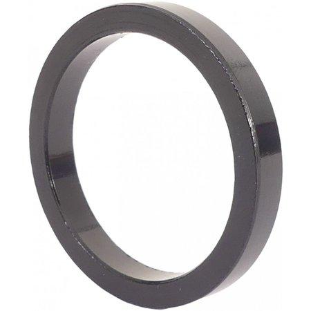 """MERKLOOS Ahead spacer 1-1/8"""" 5 mm - zwart (5 stuks)"""