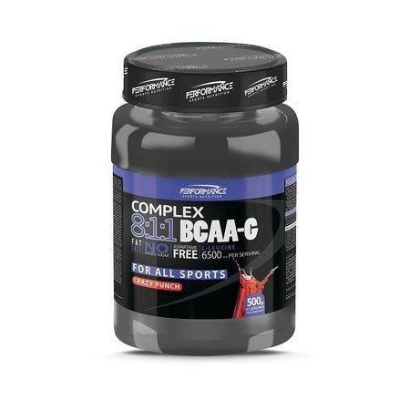 Performance BCAA-G 8:1:1 Complex - Blue Raspberry, 500 gram
