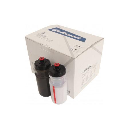 POLISPORT Bidon 700 ml - assortiment zwart - wit (display