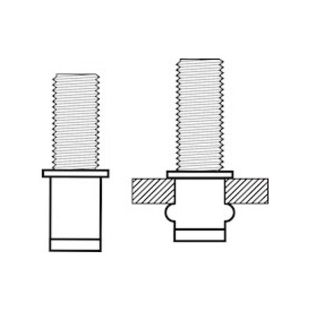 MASTERFIX Blindklinkbout Masterfix M5*15 staal (50 stuks)
