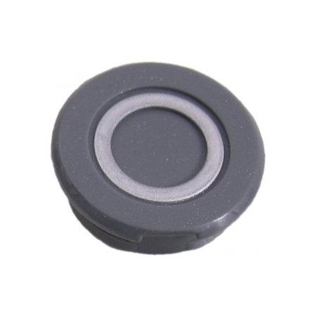 MERKLOOS Crankdop kunststof - zilver / grijs (1 stuks)