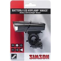 Simson koplamp Amaze batterij 25 lux stuurbocht