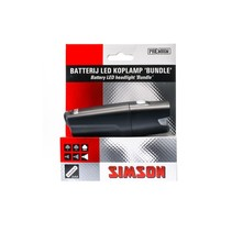 Simson koplamp Bundle batterij 25 lux stuurbocht