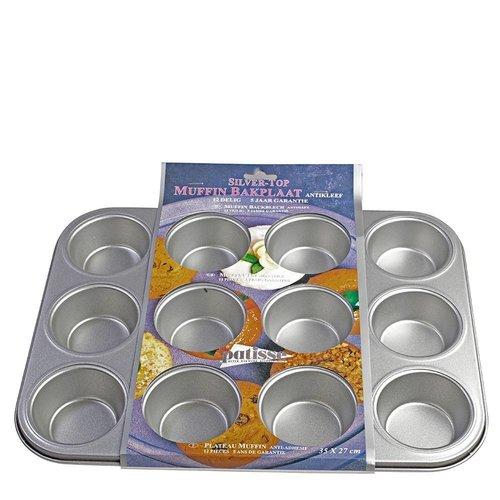 Patisse Muffin bakplaat silvertop