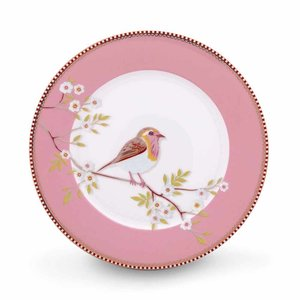 Pip studio Floral ontbijtbord early bird 21 cm roze