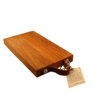 Twents hout Snijplank met lederen handvat