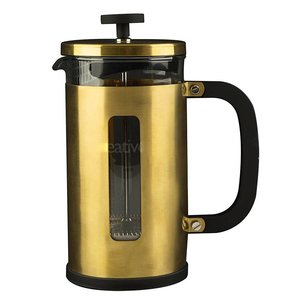 La Cafetière French Press Pisa brushed gold