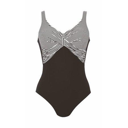 Anita Swimsuit Pure Stripes Black White